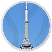 Tallest Tower  Round Beach Towel