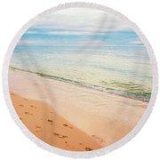 Tangalooma Island Beach In Moreton Bay.  Round Beach Towel