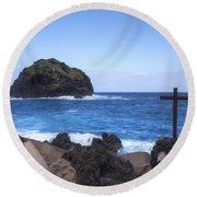 Tenerife - Garachico  Round Beach Towel