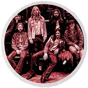 The Allman Brothers Collection Round Beach Towel