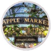 The Apple Market Covent Garden London Art Round Beach Towel