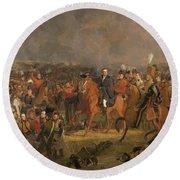 The Battle Of Waterloo Round Beach Towel