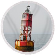 The Bell Buoy Round Beach Towel