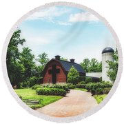 The Billy Graham Library Round Beach Towel