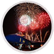 the Blue Angels US Navy    Round Beach Towel