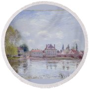 The Bridge Of Moret Round Beach Towel