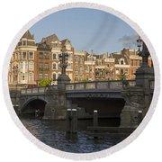 The Bridges Of Amsterdam Round Beach Towel