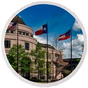 The Bullock Texas State History Museum Round Beach Towel