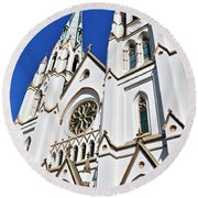 The Cathedral Of St. John The Baptist Round Beach Towel