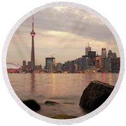 The City Of Toronto Round Beach Towel