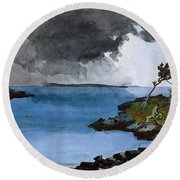 The Coming Storm Round Beach Towel