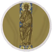 The Eternal Father  Round Beach Towel