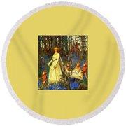 The Fairy Wood Henry Meynell Rheam Round Beach Towel