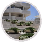 The Getty Round Beach Towel