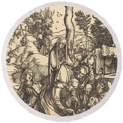 The Lamentation Round Beach Towel