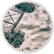 The London Eye Round Beach Towel