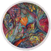 The Magic Garden Round Beach Towel