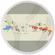 the Netherlands  3D Round Beach Towel