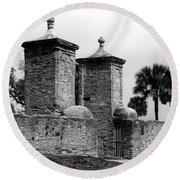 The Old City Gates Round Beach Towel