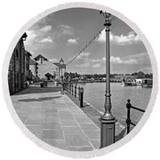 The Promenade At Barton Marina Round Beach Towel