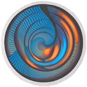 The Seventh Opinion Top View Round Beach Towel