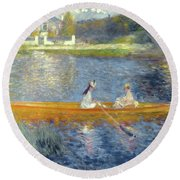 The Skiff Round Beach Towel