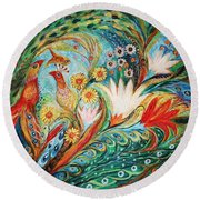 The Spring Morning Round Beach Towel