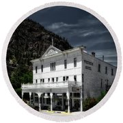 The Western Hotel Round Beach Towel