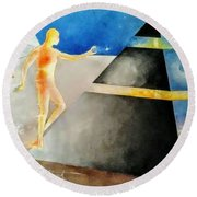 Thoth The Atlantean Round Beach Towel