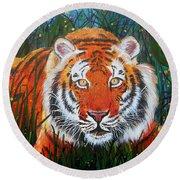 Tiger- Large Work Round Beach Towel