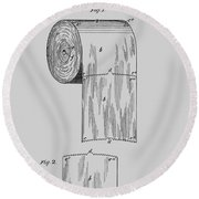 Toilet Paper Roll Patent 1891 Round Beach Towel
