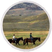 Trail Ride Round Beach Towel