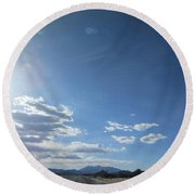 Travelling To Flagstaff Round Beach Towel