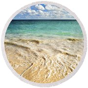 Tropical Beach  Round Beach Towel by Elena Elisseeva