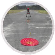 Umbrella Round Beach Towel by Joana Kruse