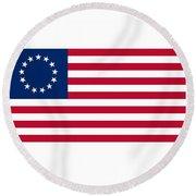 United States Flag Round Beach Towel