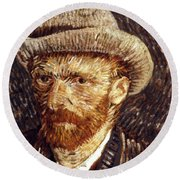 Vincent Van Gogh Round Beach Towel