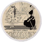 Clean Dainty Curtains Vintage Soap Ad Round Beach Towel