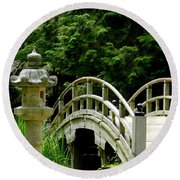 Virginia Bridges -japanese Garden Round Beach Towel
