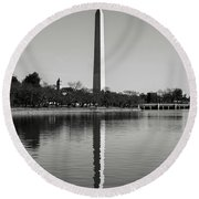 Washington Memorial  Round Beach Towel