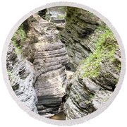 Watkins Glen New York Round Beach Towel
