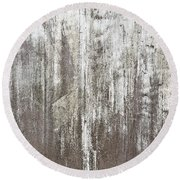 Weathered Metal Round Beach Towel