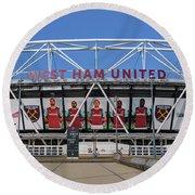 West Ham Fc Stadium London Round Beach Towel