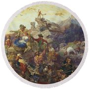 Westward The Course Of Empire Takes Its Way Round Beach Towel