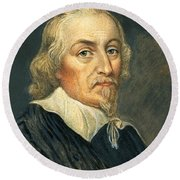 William Harvey, English Physician Round Beach Towel