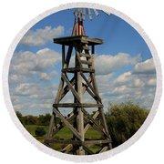 Windmill-5747b Round Beach Towel
