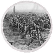 World War I: U.s. Troops Round Beach Towel