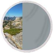 Yosemite National Park Hiking Round Beach Towel