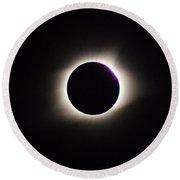 #20 August 2017 Solar Eclipse Round Beach Towel