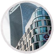 20 Fenchurch Street A Commercial Skyscraper In London Round Beach Towel